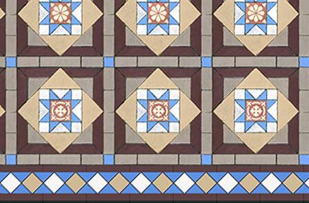 Victorian tile modaic design