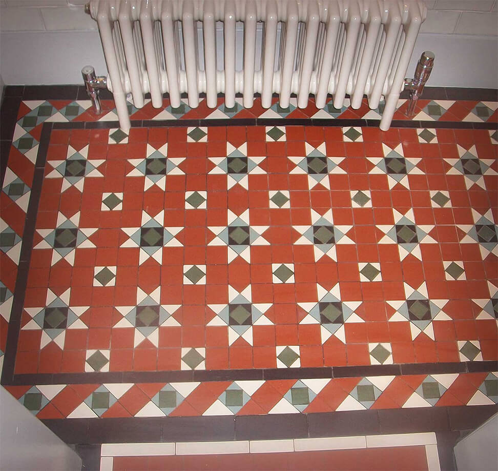 Star design mosaic tiles to match existing pattern