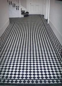 restoring black white floors london victorian