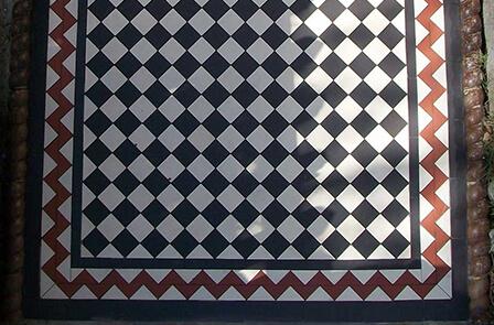Classic Victorian Path Tiles - Black & White