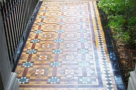 Restoration of path tiles
