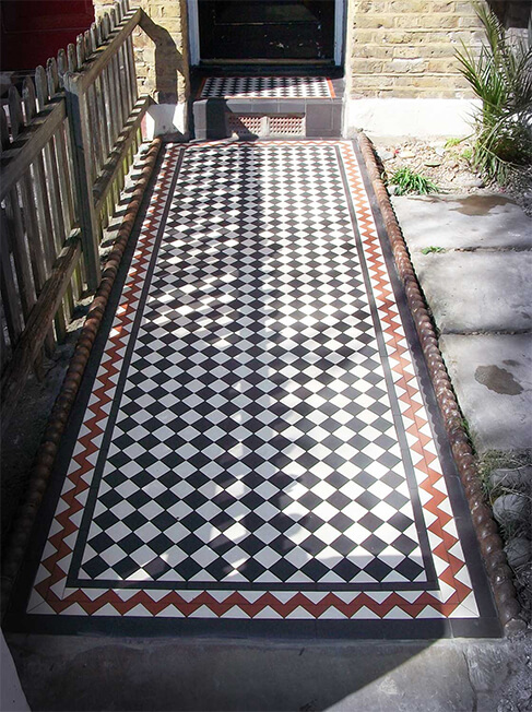 New installation of a black and white path in London
