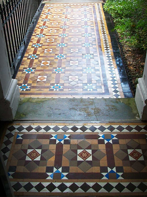 Cleaning the original tiles