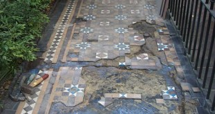 restoration of an encaustic Victorian path in London - part 1