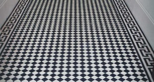 restoration of a Victorian interior -black-and-white tiles